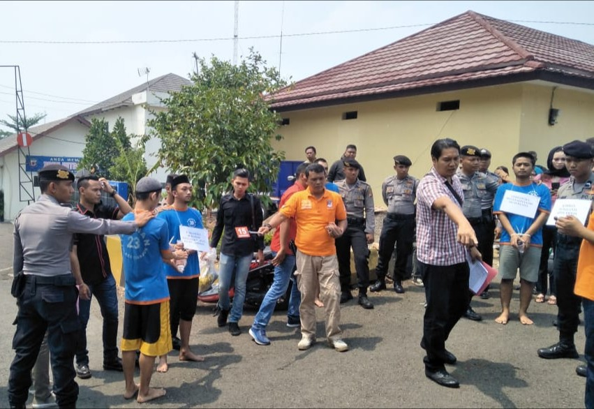 Rekonstruksi Aksi Mahasiswa Cianjur ada 17 Adegan