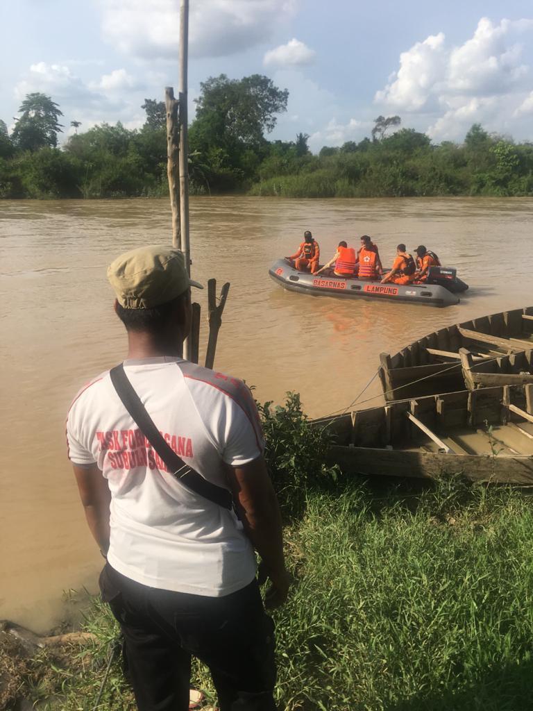 Nekat Lompat dari Jembatan, Seorang Pria Hilang di Sungai Way Seputih Lampung